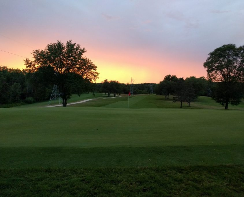 Sunset at Riverbend Golf Course